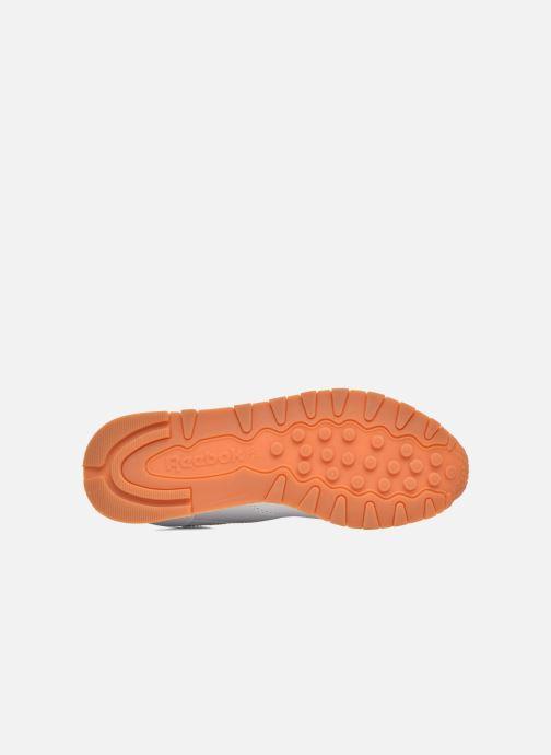 Sneakers Reebok Classic Leather W Bianco immagine dall'alto