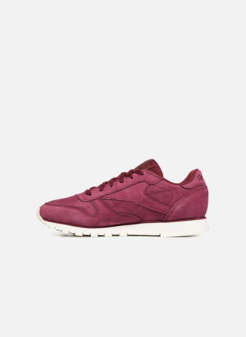 Baskets Reebok Classic Leather W Rouge vue face