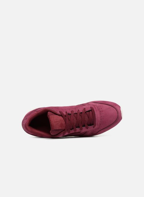 Baskets Reebok Classic Leather W Rouge vue gauche