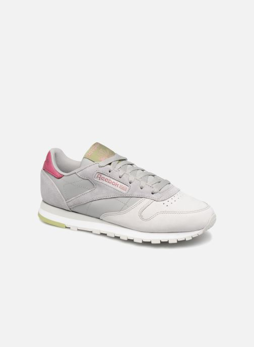 Baskets Reebok Classic Leather W Gris vue détail/paire
