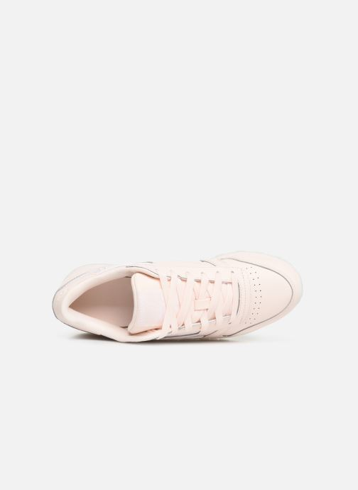 Baskets Reebok Classic Leather W Rose vue gauche