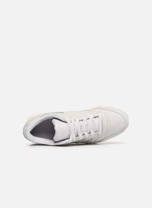 Baskets Reebok Classic Leather W Gris vue gauche