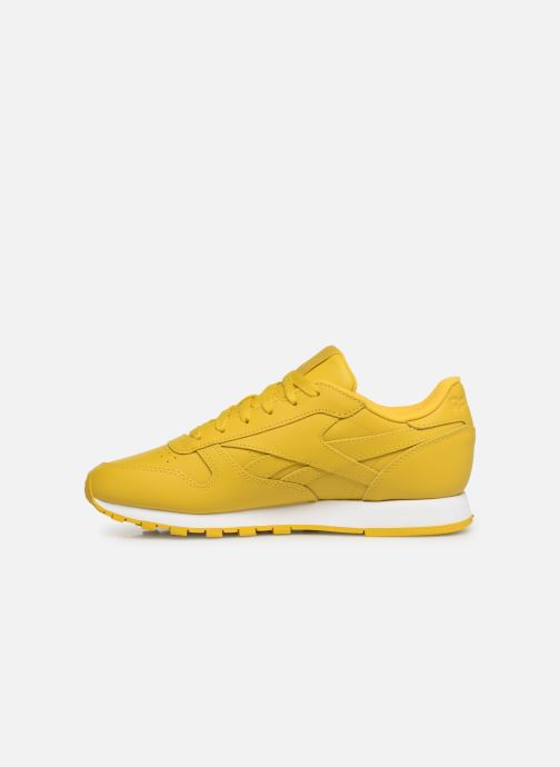 Baskets Reebok Classic Leather W Jaune vue face