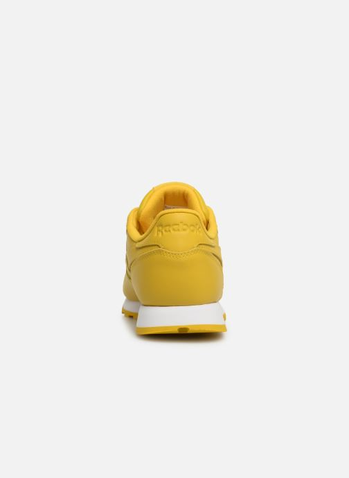 Baskets Reebok Classic Leather W Jaune vue droite