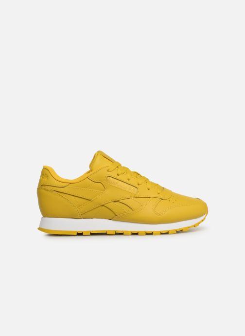 Sneaker Reebok Classic Leather W gelb ansicht von hinten