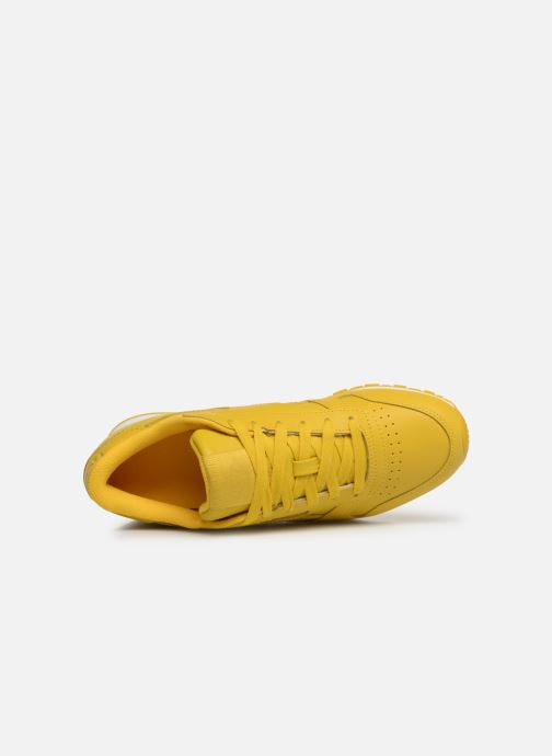 Baskets Reebok Classic Leather W Jaune vue gauche
