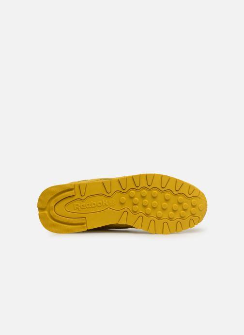 Baskets Reebok Classic Leather W Jaune vue haut