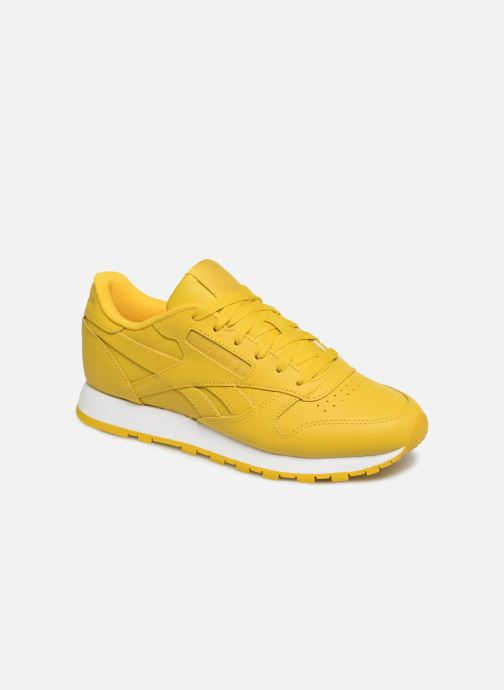 Baskets Reebok Classic Leather W Jaune vue détail/paire