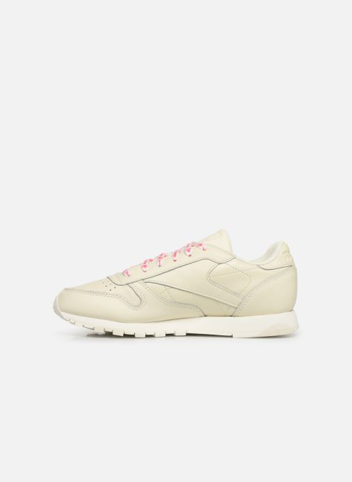 Sneakers Reebok Classic Leather W Wit voorkant