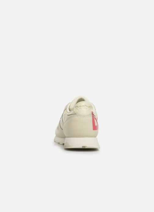 Deportivas Reebok Classic Leather W Blanco vista lateral derecha