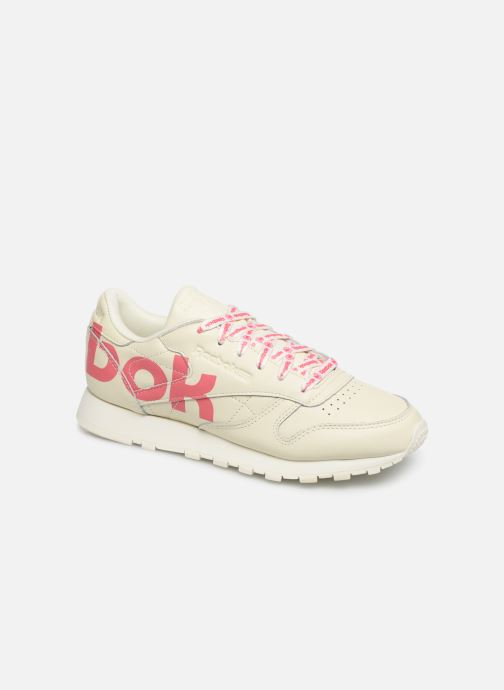 Baskets Reebok Classic Leather W Blanc vue détail/paire