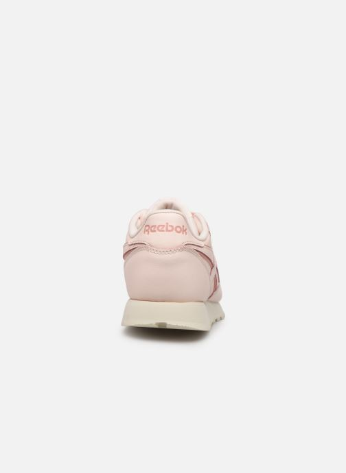 Baskets Reebok Classic Leather W Rose vue droite