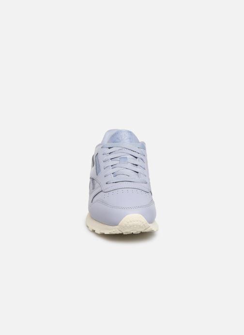 Baskets Reebok Classic Leather W Violet vue portées chaussures