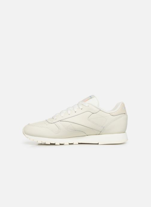 Baskets Reebok Classic Leather W Beige vue face