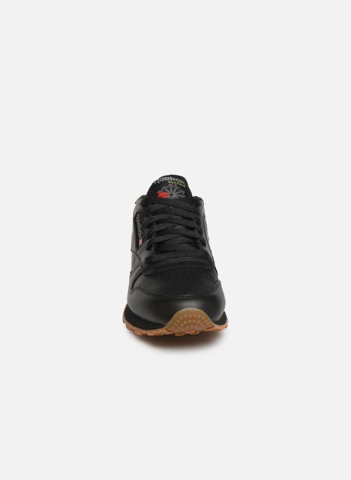 Deportivas Reebok Classic Leather W Negro vista del modelo