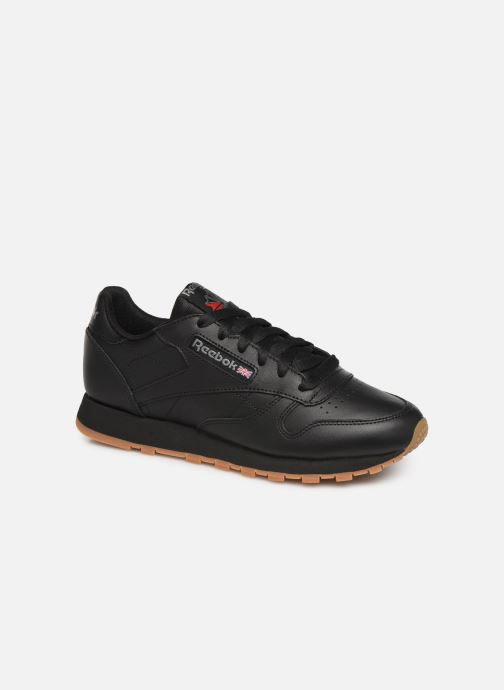 Deportivas Reebok Classic Leather W Negro vista de detalle / par