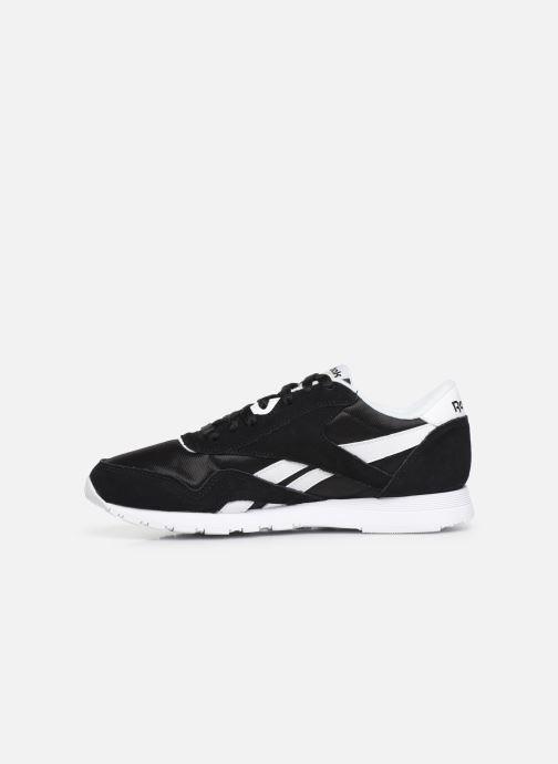 Sneakers Reebok Classic Leather W Zwart voorkant
