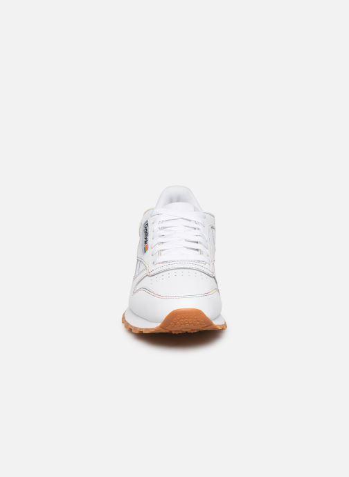 Sneakers Reebok Classic Leather W Bianco modello indossato
