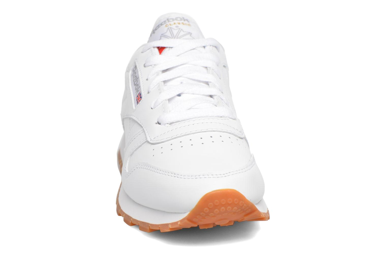 Reebok Int gum Classic white Leather W W7p6YB7r