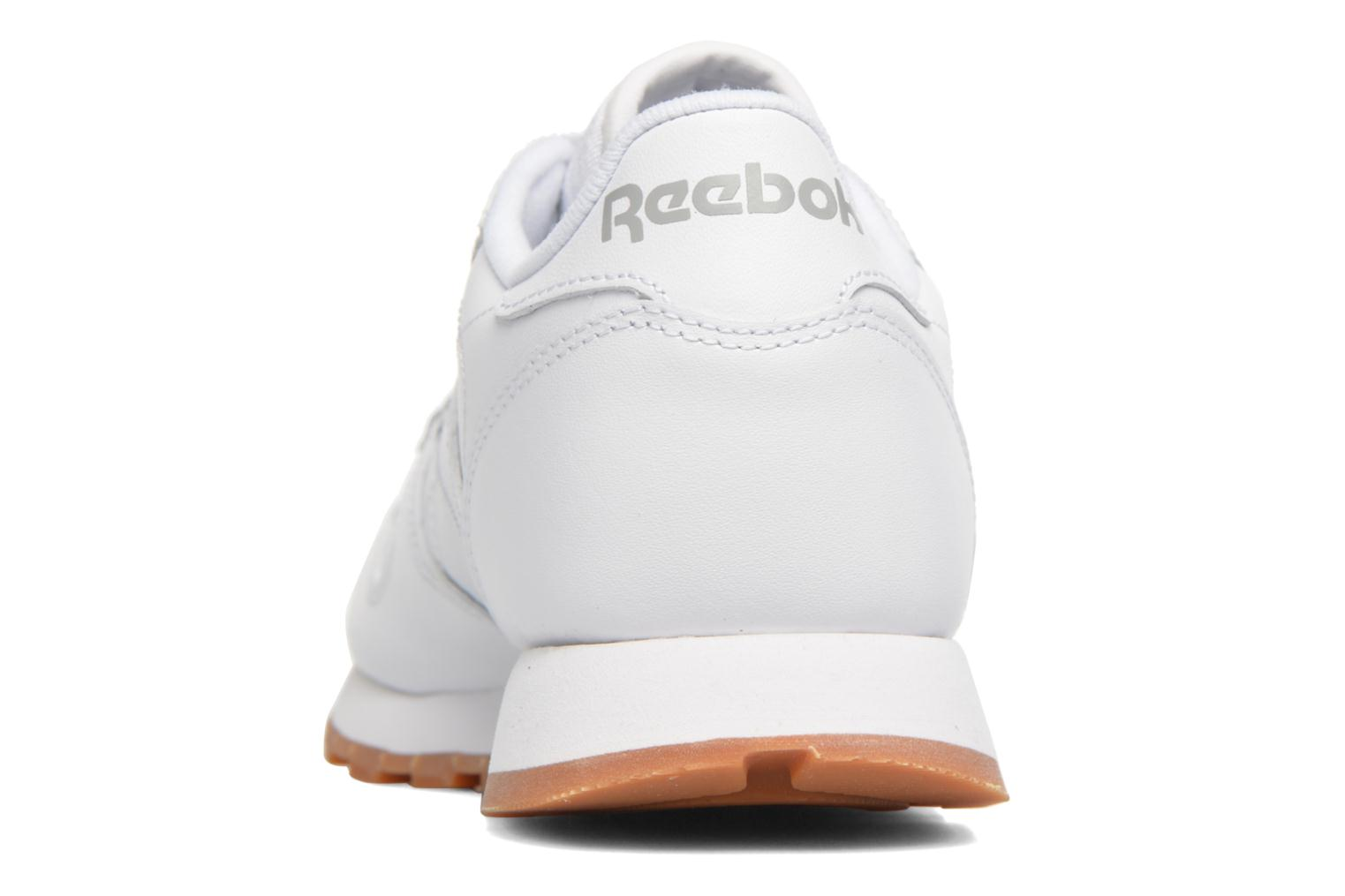 Deportivas Reebok Classic Leather W Blanco vista lateral derecha