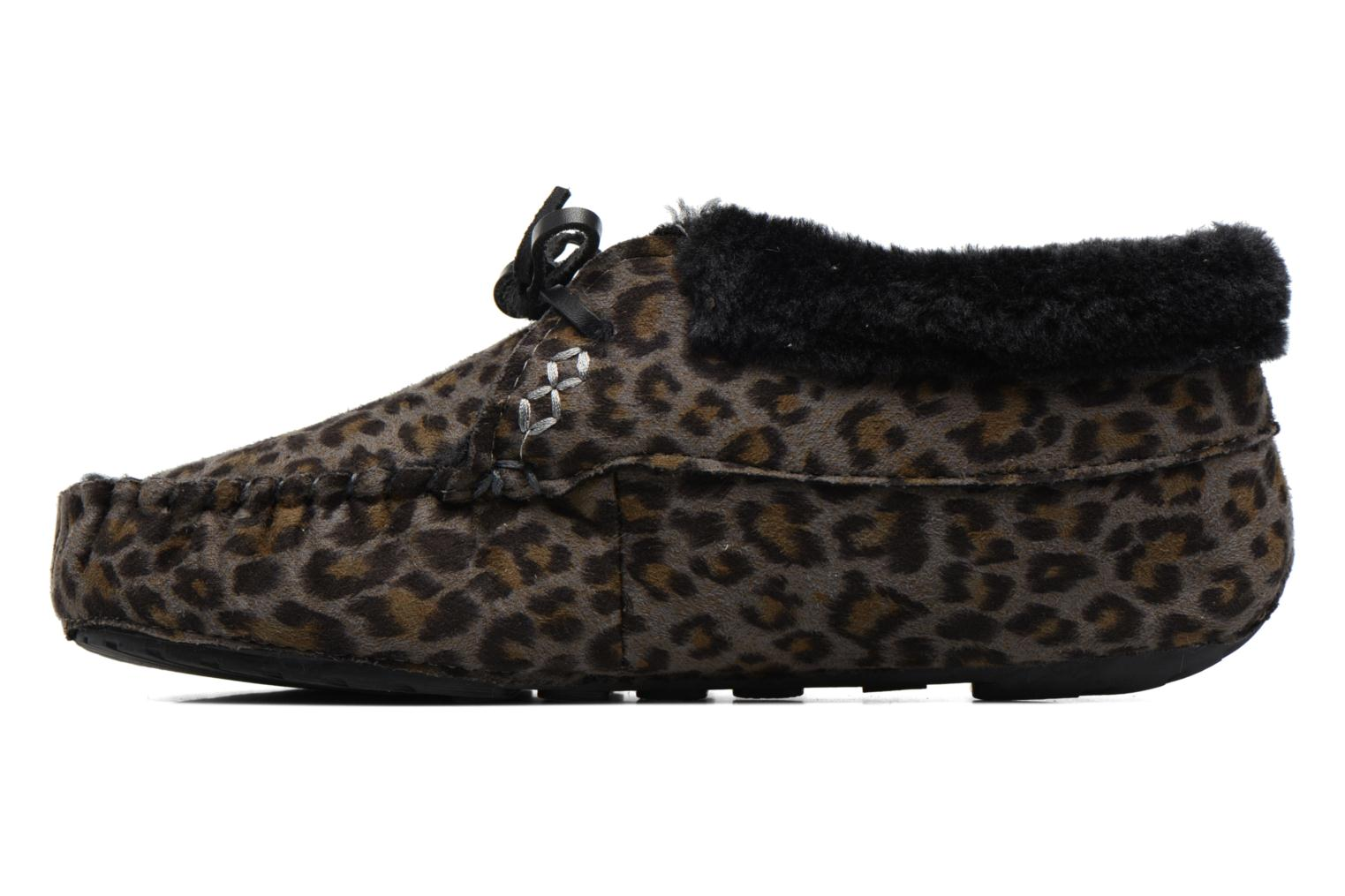 Pantofole Ruby Brown Mocassin Leopard Grigio immagine frontale