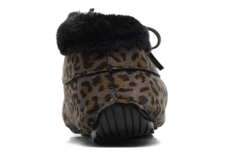 Hausschuhe Ruby Brown Mocassin Leopard grau ansicht von rechts