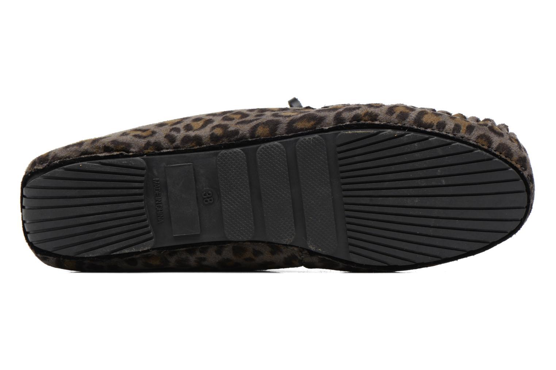 Chaussons Ruby Brown Mocassin Leopard Gris vue haut