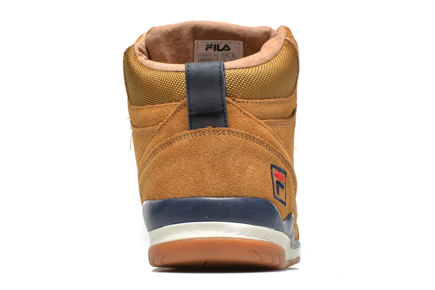 Trainers FILA Bounce Mid Adv W Brown view from the right