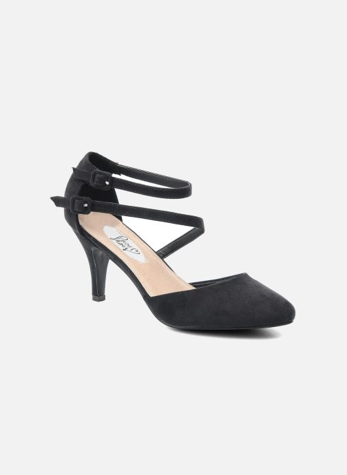 High heels I Love Shoes Kibo Black detailed view/ Pair view