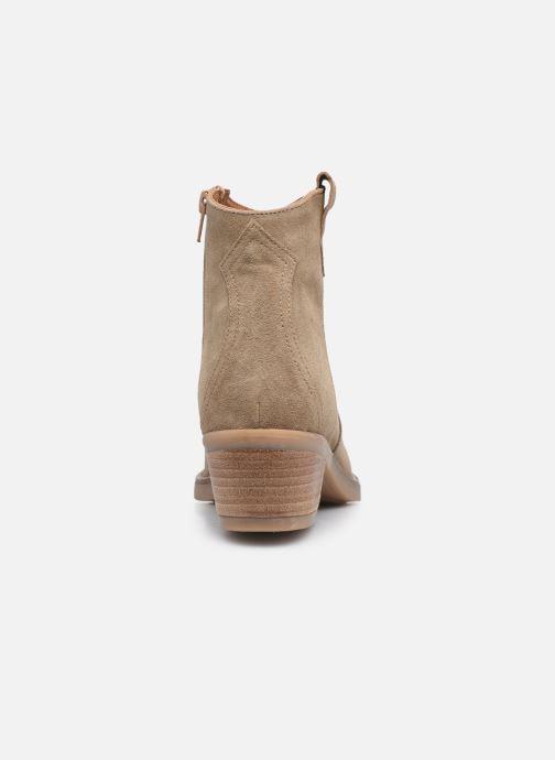 Bottines et boots Georgia Rose Ambre Beige vue droite
