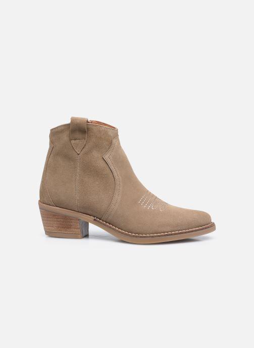 Bottines et boots Georgia Rose Ambre Beige vue derrière