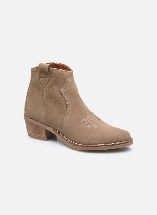 Bottines et boots Georgia Rose Ambre Beige vue détail/paire