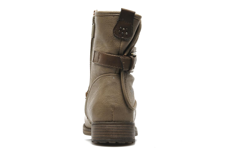 Bottines et boots Mustang shoes Masya Beige vue droite