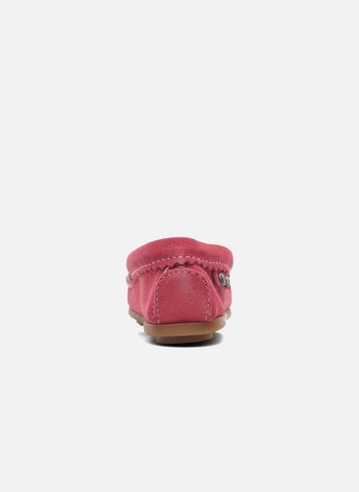 Mocasines Minnetonka Hello Kitty Moc Rosa vista lateral derecha