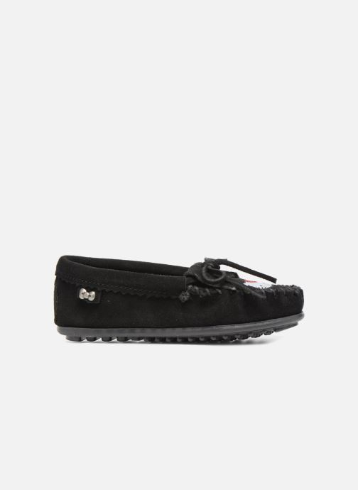 Mocasines Minnetonka Hello Kitty Moc Negro vistra trasera