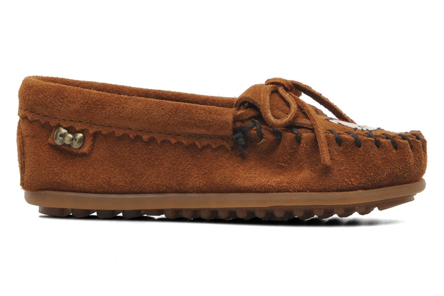 Loafers Minnetonka Hello Kitty Moc Brown back view