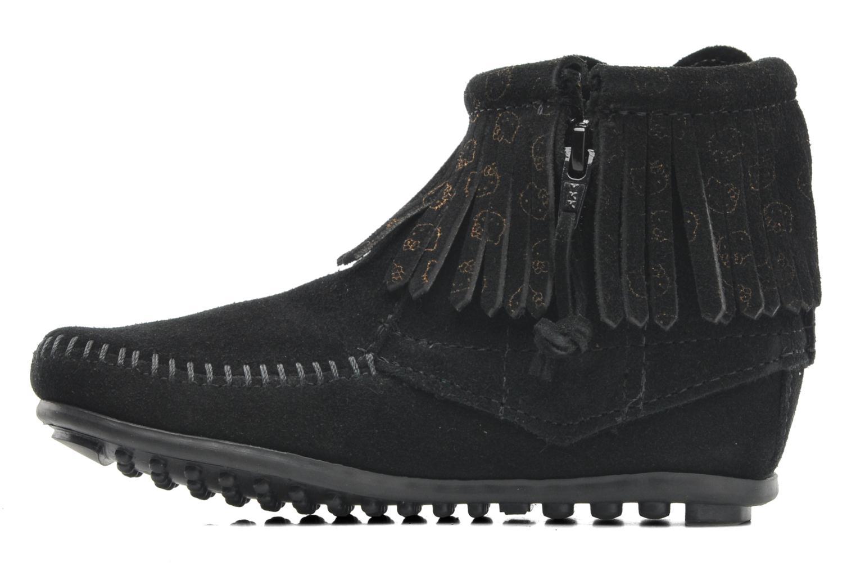 Stiefeletten & Boots Minnetonka Hello Kitty Fringe Bootie schwarz ansicht von vorne