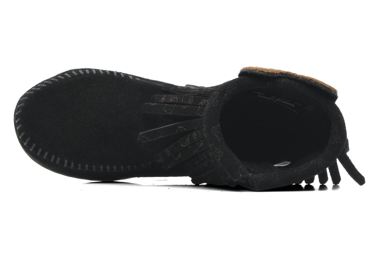 Stiefeletten & Boots Minnetonka Hello Kitty Fringe Bootie schwarz ansicht von links