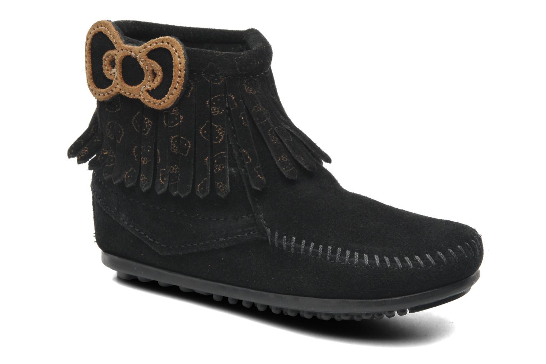 Stiefeletten & Boots Minnetonka Hello Kitty Fringe Bootie schwarz detaillierte ansicht/modell
