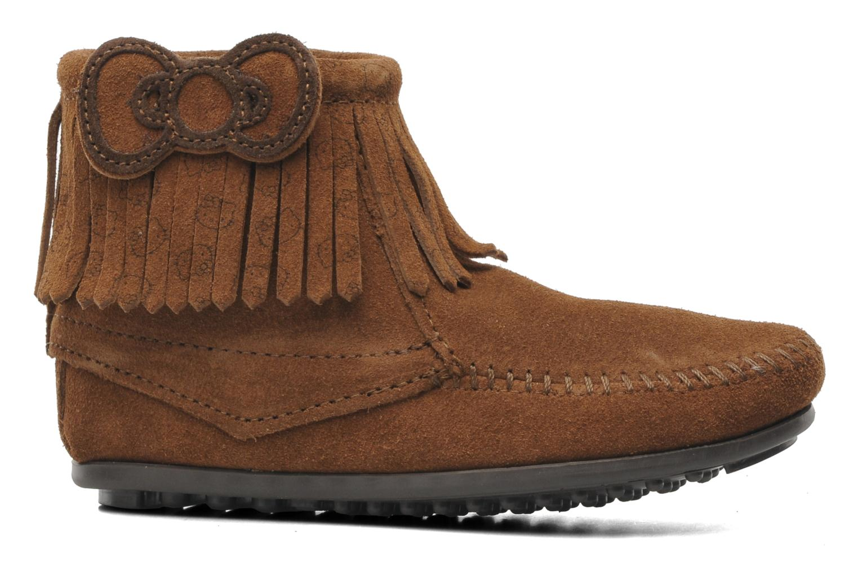 Boots en enkellaarsjes Minnetonka Hello Kitty Fringe Bootie Bruin achterkant