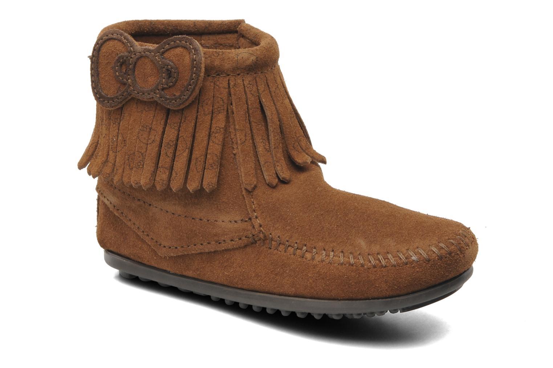 Boots en enkellaarsjes Minnetonka Hello Kitty Fringe Bootie Bruin detail