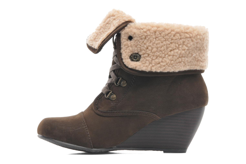 Bottines et boots Blowfish Buster shearling Marron vue face