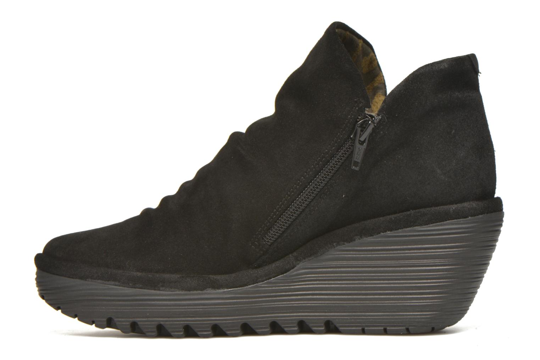 Bottines et boots Fly London Yip Noir vue face