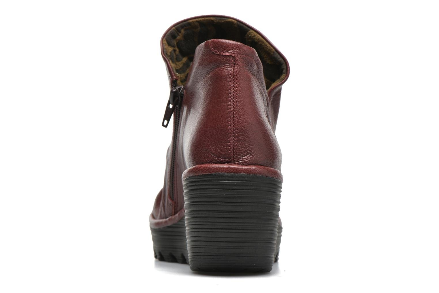 Bottines et boots Fly London Yip Rouge vue droite