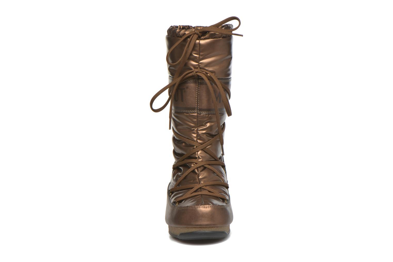 Bottes Moon Boot Soft Met Or et bronze vue portées chaussures