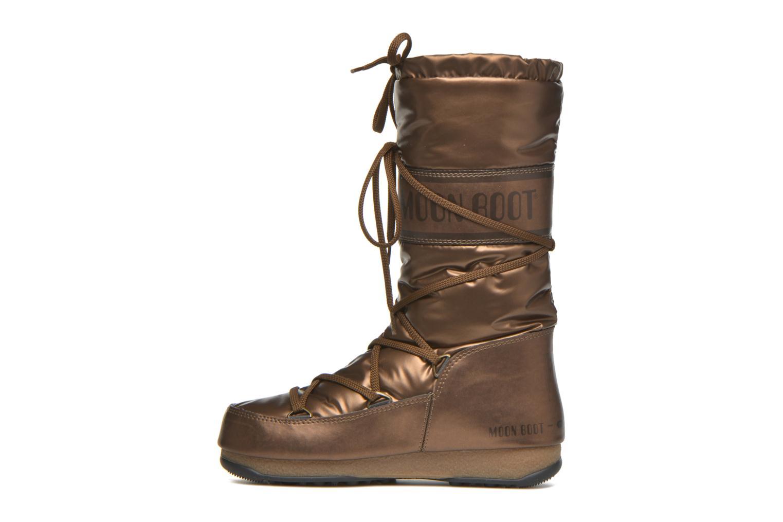 Bottes Moon Boot Soft Met Or et bronze vue face