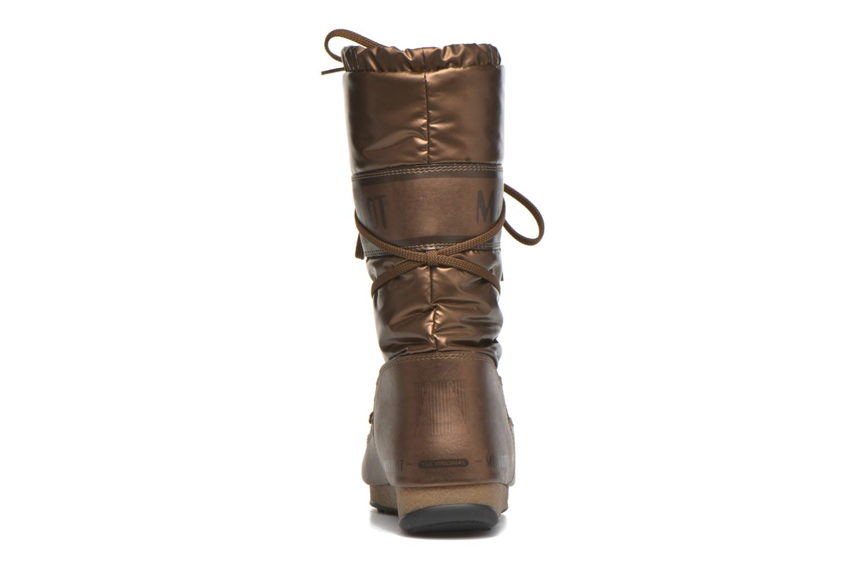 Bottes Moon Boot Soft Met Or et bronze vue droite