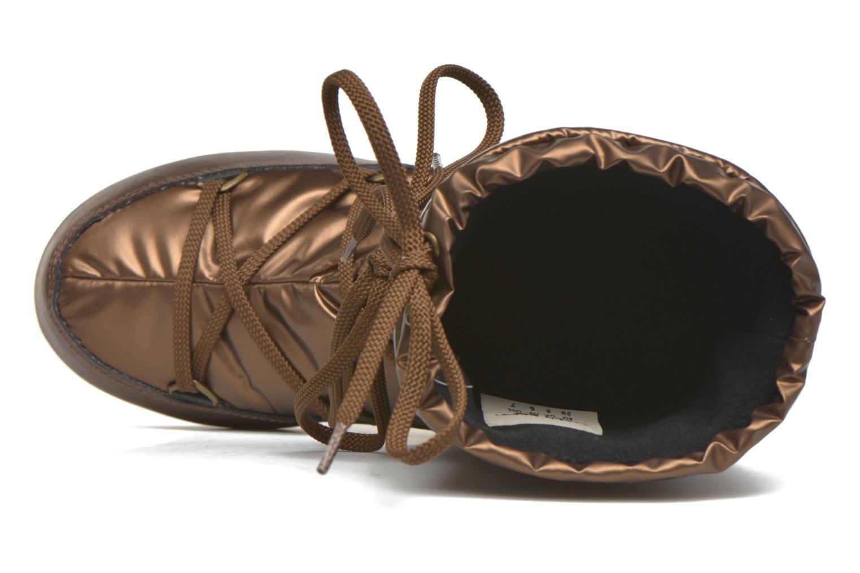 Bottes Moon Boot Soft Met Or et bronze vue gauche