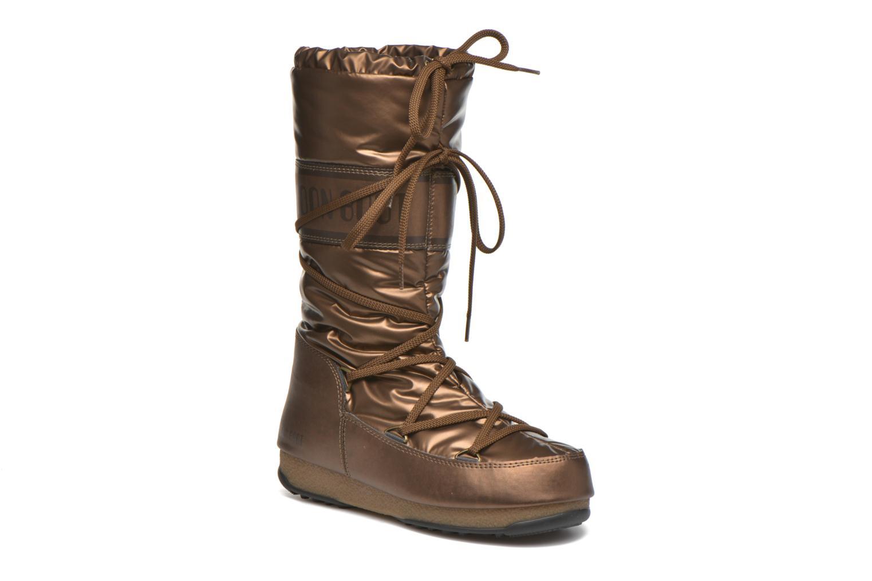 Bottes Moon Boot Soft Met Or et bronze vue détail/paire