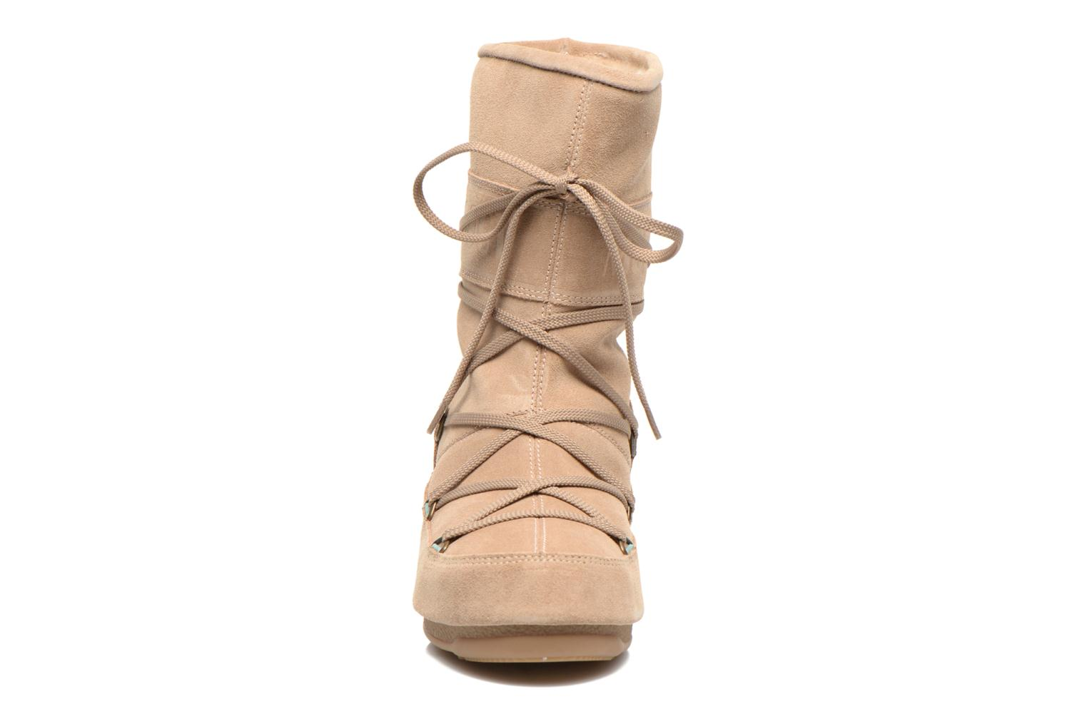 Ankle boots Moon Boot Caviar Mid Beige model view